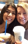 Dani and I enjoying one last cup of java before she boarded the plane for her Semester Abroad program.