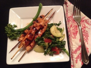 Sesame Orange Chicken Skewers