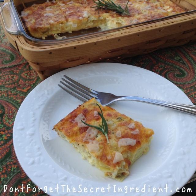 artichoke rosemary and cheese  fritatta