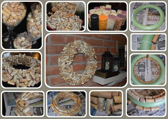 cork wreath DIY 2
