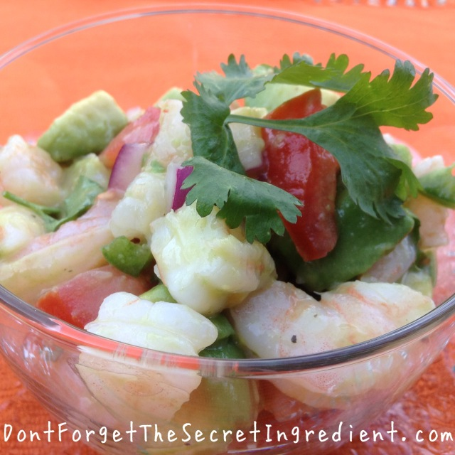 Zesty Lime Avocado and Shrimp Salad