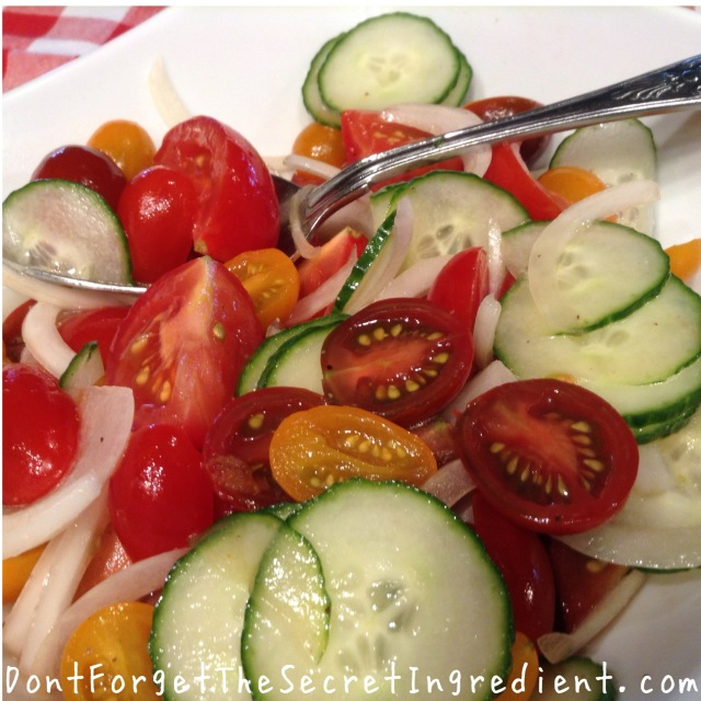 tomato cucumber and onion salad