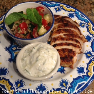 Chicken and tabouleh