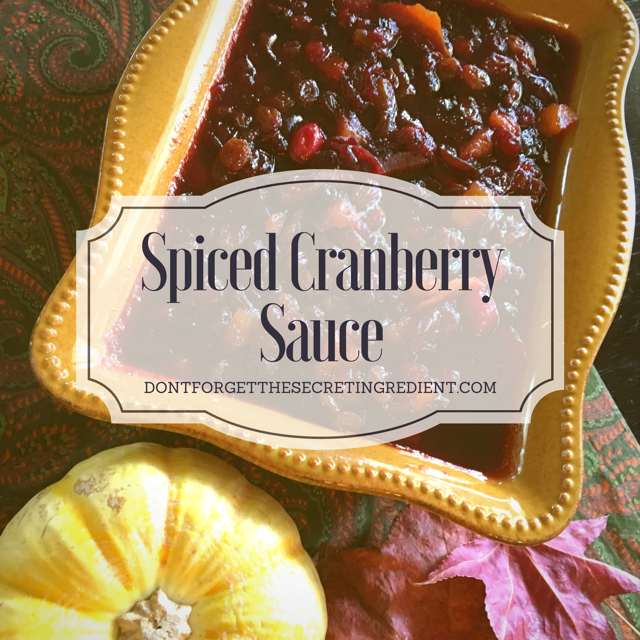 DFTSI Spice Cranberry Sauce